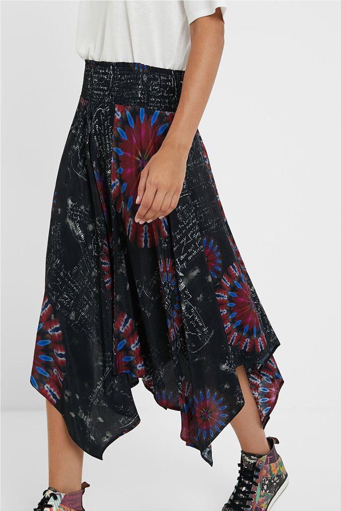 Desigual γυναικεία midi φούστα ασύμμετρη ''Brindisi'' Πολύχρωμο 1