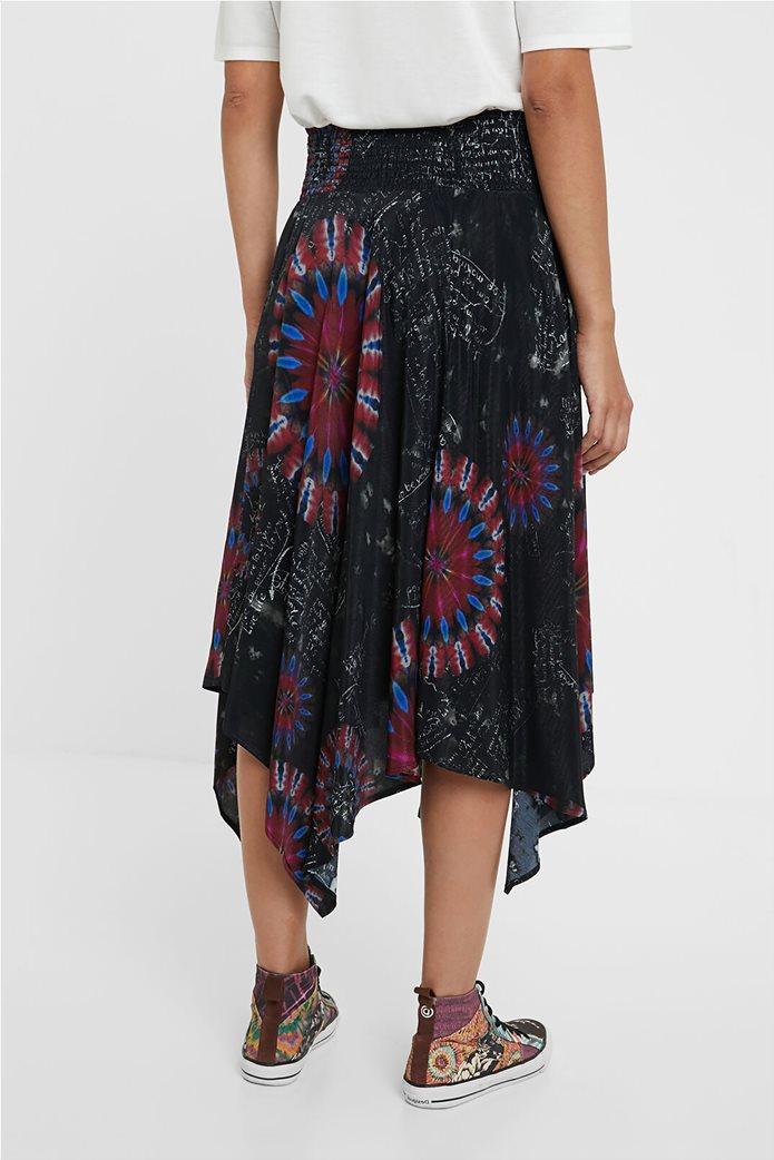 Desigual γυναικεία midi φούστα ασύμμετρη ''Brindisi'' Πολύχρωμο 3