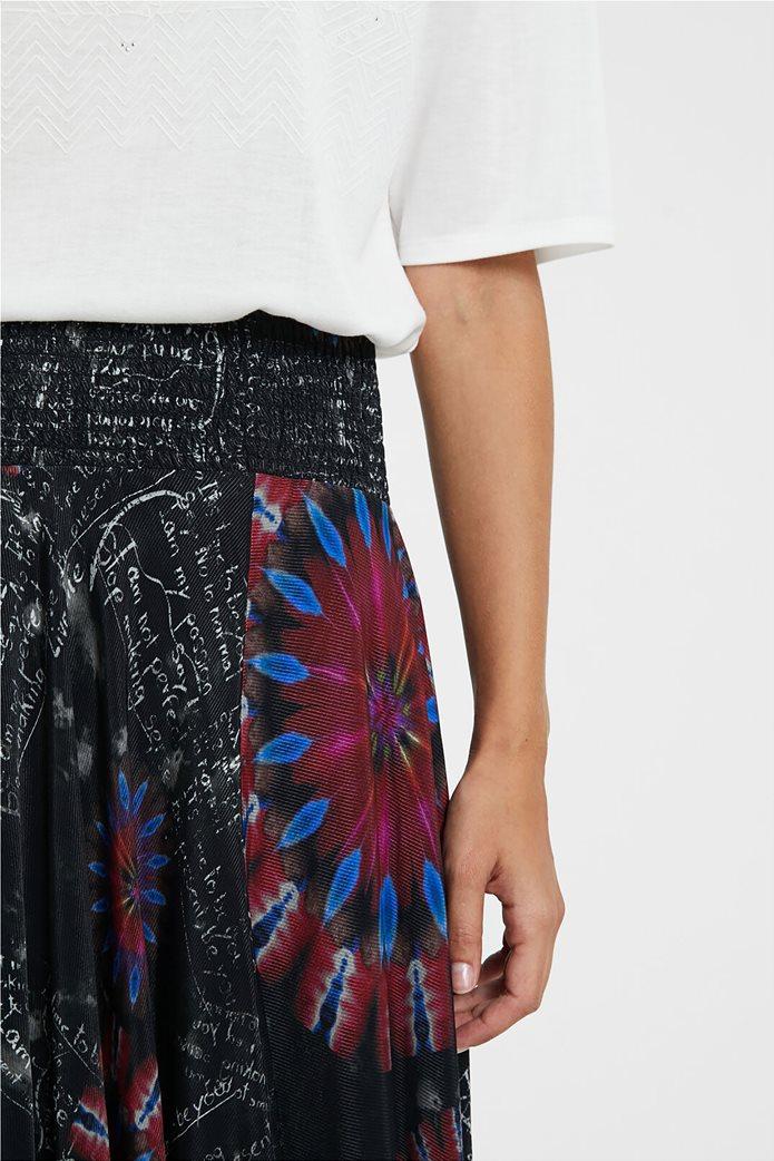 Desigual γυναικεία midi φούστα ασύμμετρη ''Brindisi'' Πολύχρωμο 4