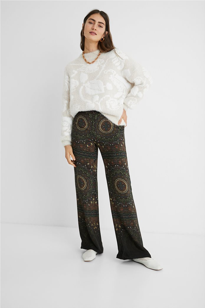 Desigual γυναικείο floral πουλόβερ ''Zurich'' Εκρού 0