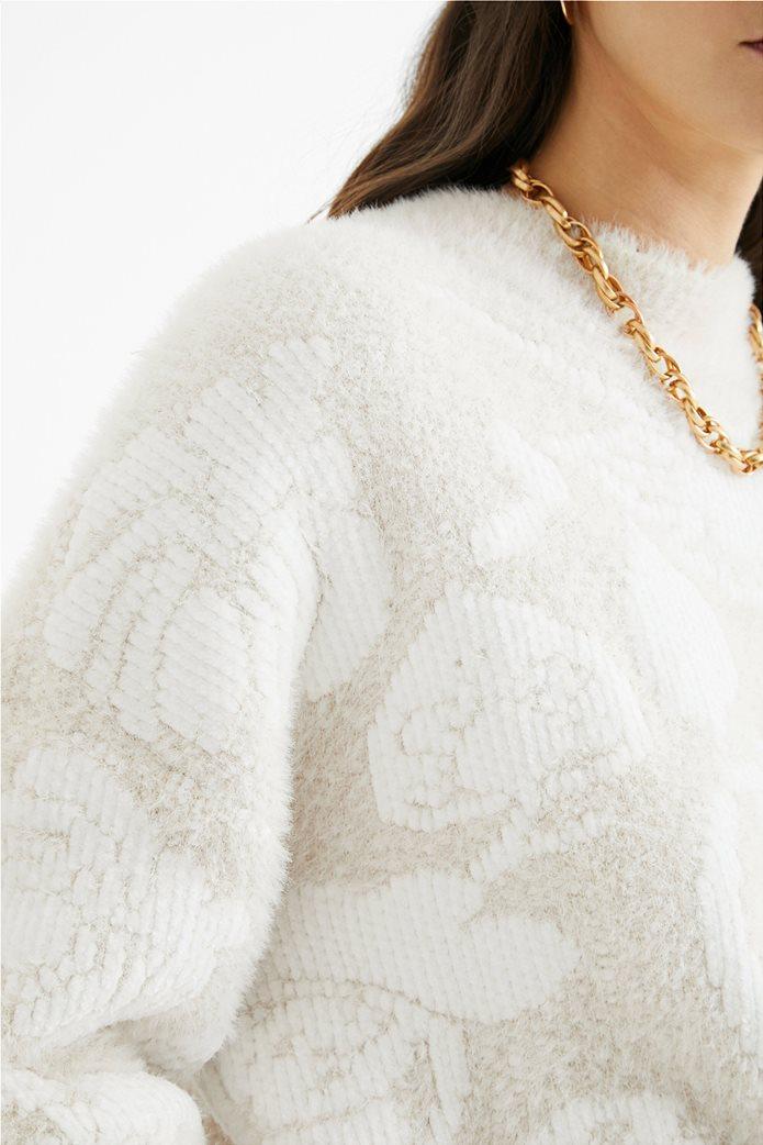 Desigual γυναικείο floral πουλόβερ ''Zurich'' Εκρού 4