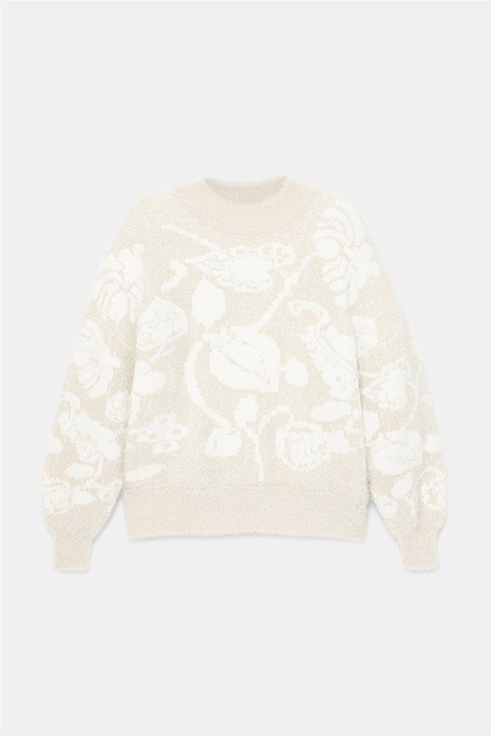 Desigual γυναικείο floral πουλόβερ ''Zurich'' Εκρού 5
