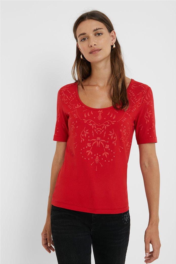 Desigual γυναικεία floral μπλούζα ''Lyon'' Κόκκινο 0