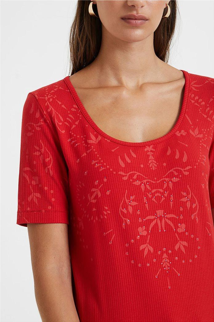 Desigual γυναικεία floral μπλούζα ''Lyon'' Κόκκινο 1