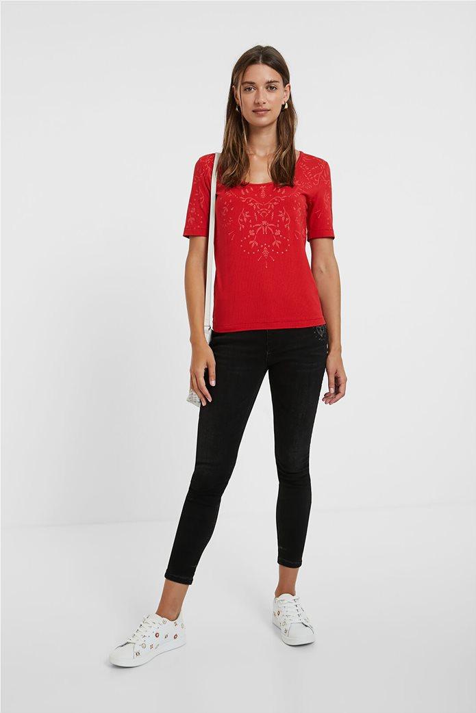 Desigual γυναικεία floral μπλούζα ''Lyon'' Κόκκινο 2