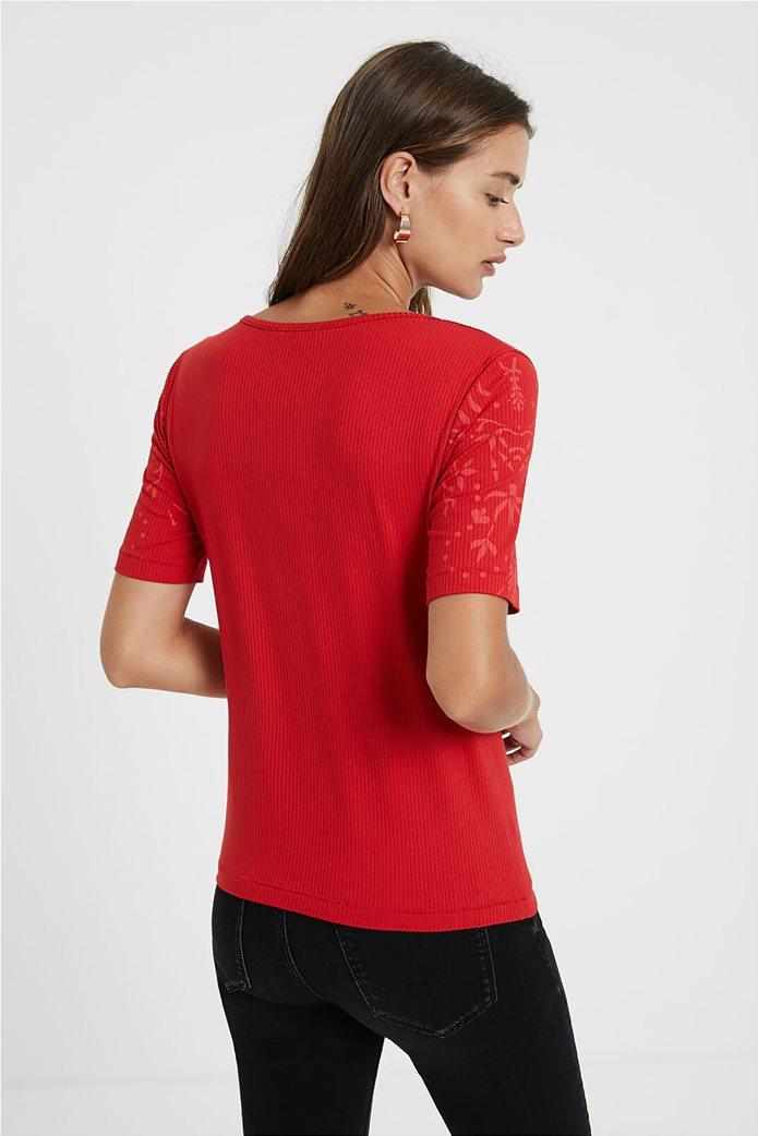 Desigual γυναικεία floral μπλούζα ''Lyon'' Κόκκινο 3