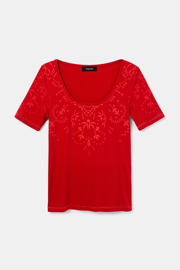 Desigual γυναικεία floral μπλούζα ''Lyon'' Κόκκινο 4