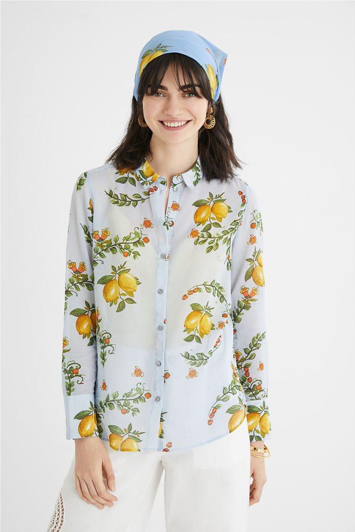 Desigual  γυναικείο πουκάμισο με all-over lemon print ''Iris'' 0