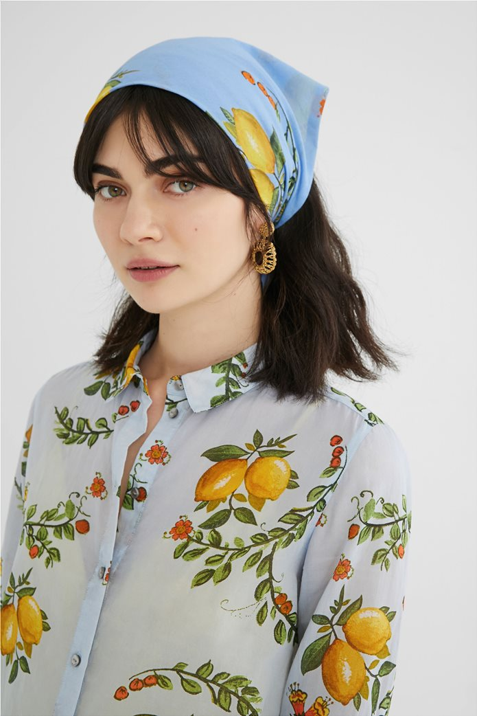 Desigual  γυναικείο πουκάμισο με all-over lemon print ''Iris'' 1
