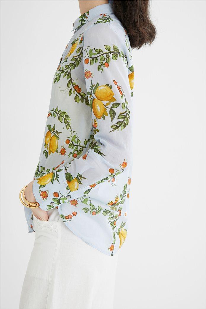 Desigual  γυναικείο πουκάμισο με all-over lemon print ''Iris'' 2