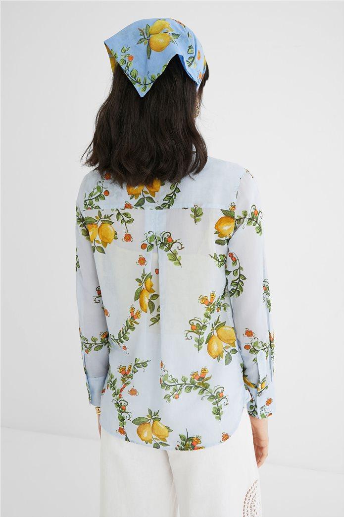 Desigual  γυναικείο πουκάμισο με all-over lemon print ''Iris'' 3