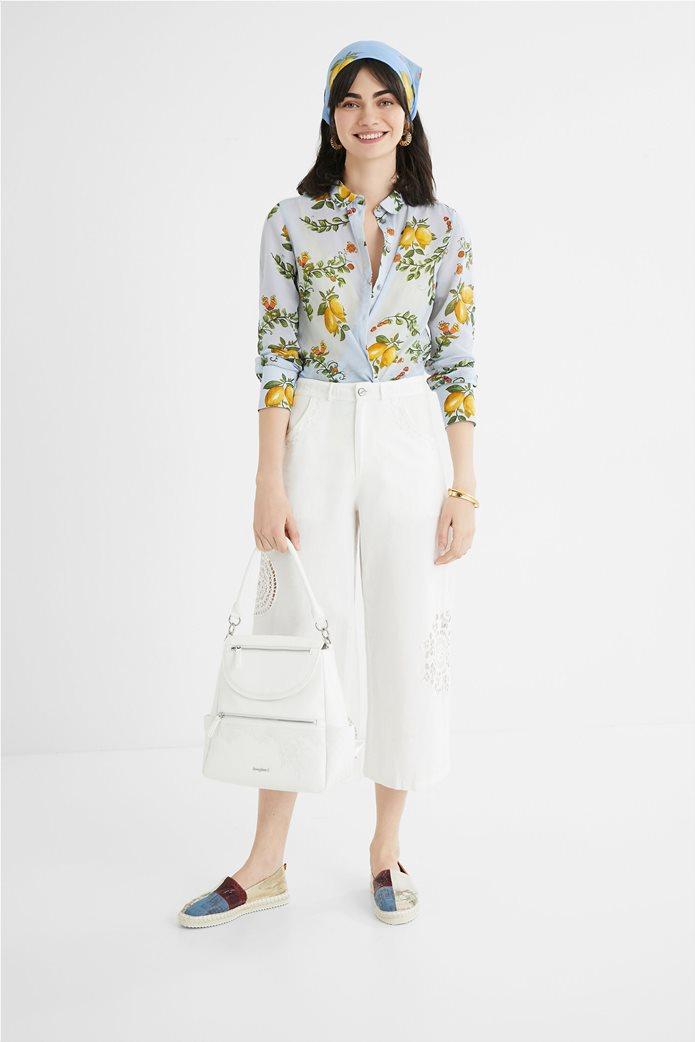 Desigual  γυναικείο πουκάμισο με all-over lemon print ''Iris'' 4