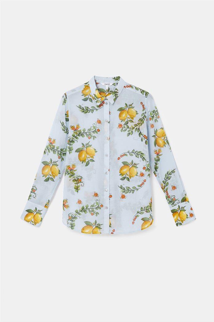 Desigual  γυναικείο πουκάμισο με all-over lemon print ''Iris'' 5