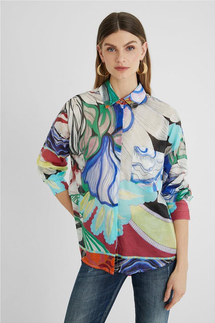 Desigual  γυναικείο πουκάμισο colourblocked με all-over floral print ''Ocaso'' 0