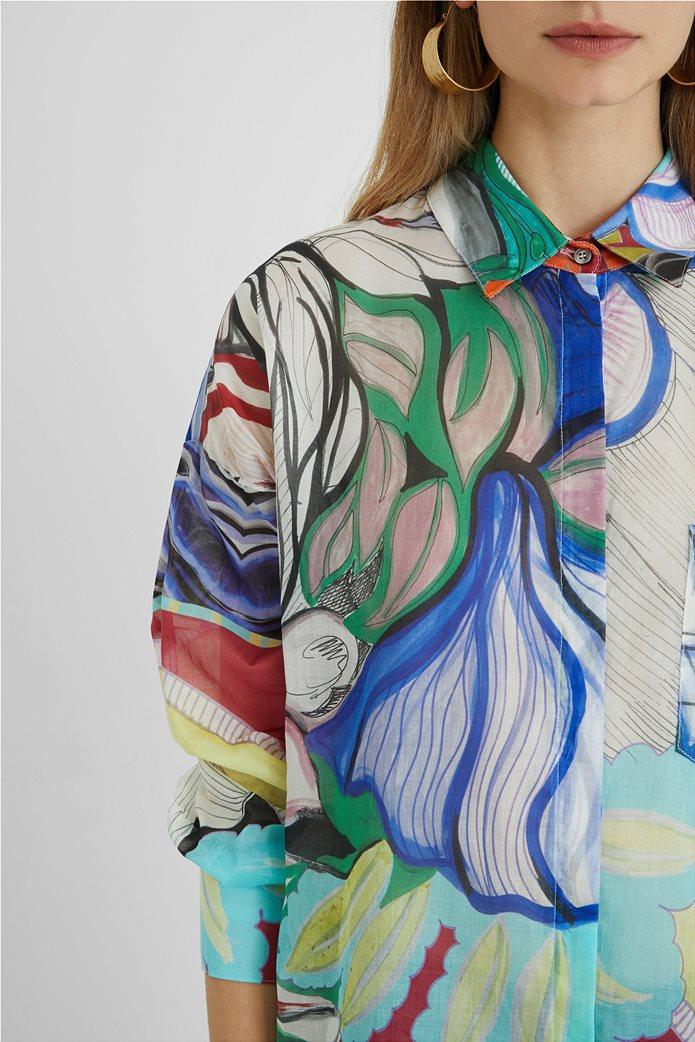 Desigual  γυναικείο πουκάμισο colourblocked με all-over floral print ''Ocaso'' 1
