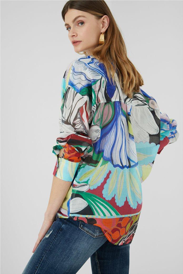 Desigual  γυναικείο πουκάμισο colourblocked με all-over floral print ''Ocaso'' 2