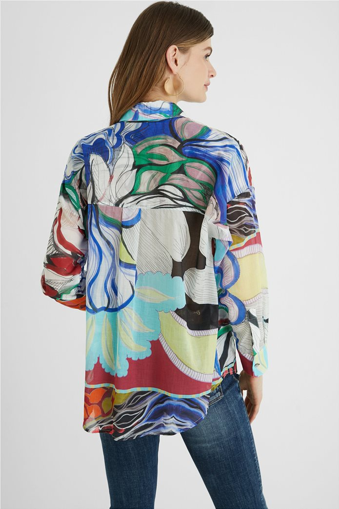 Desigual  γυναικείο πουκάμισο colourblocked με all-over floral print ''Ocaso'' 3
