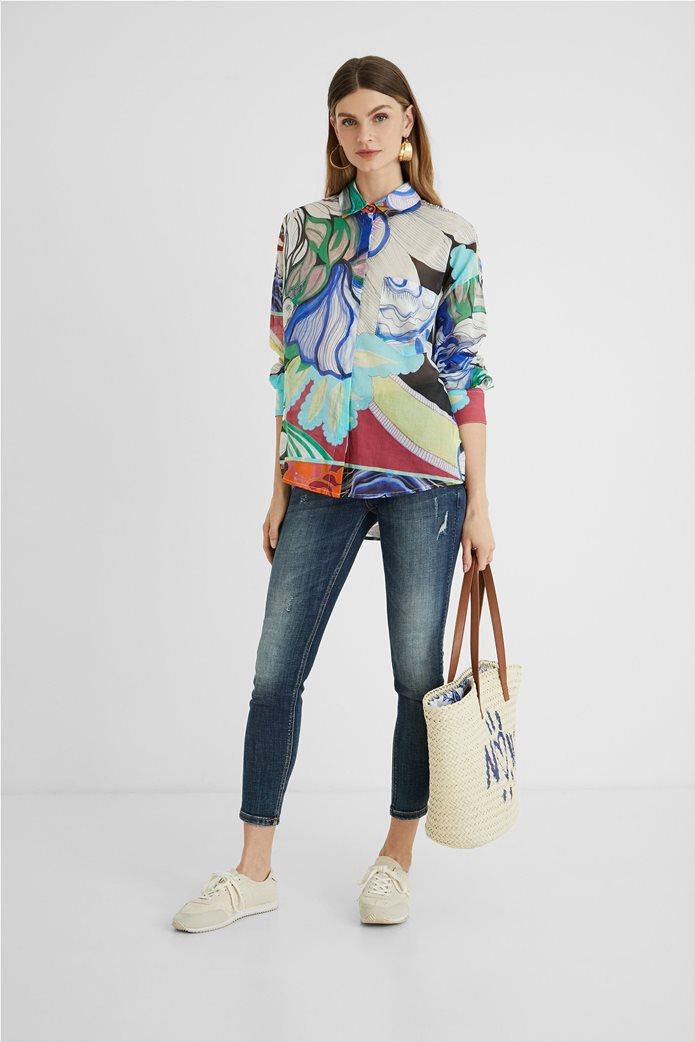 Desigual  γυναικείο πουκάμισο colourblocked με all-over floral print ''Ocaso'' 4