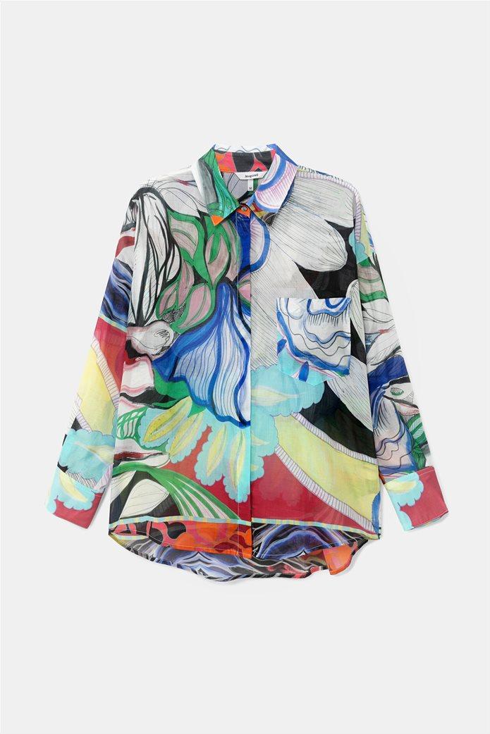 Desigual  γυναικείο πουκάμισο colourblocked με all-over floral print ''Ocaso'' 5