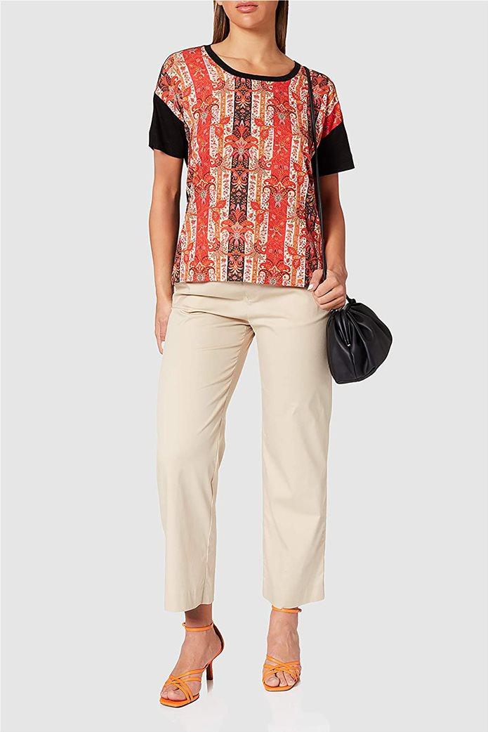 "Desigual γυναικεία μπλούζα με boho print ""Lombok"" 0"