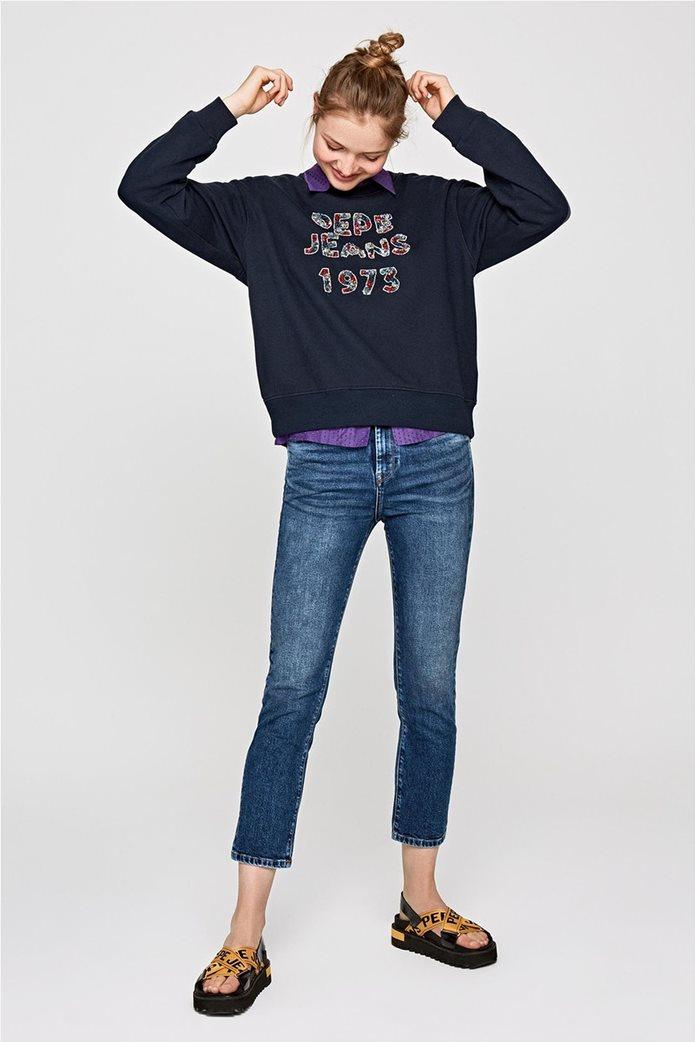 b1d2aa7dbec PEPE JEANS | Pepe Jeans γυναικείο φούτερ με παγιέτα Vickies Μαύρο | notos