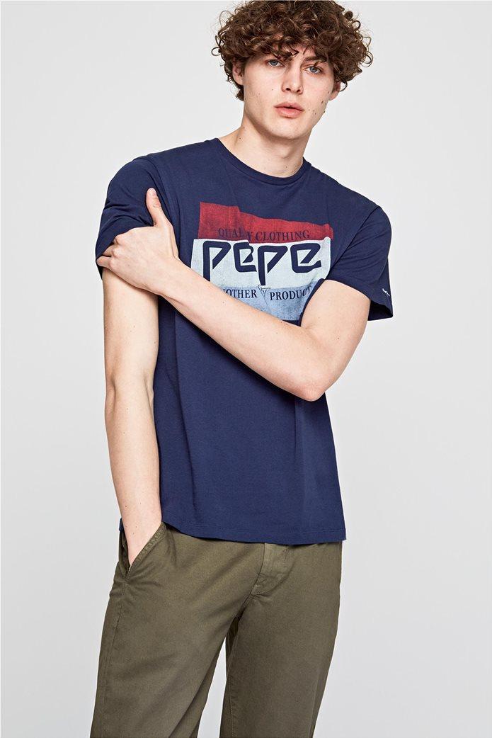 Pepe Jeans ανδρικό T-shirt κοντομάνικο με logo print 0
