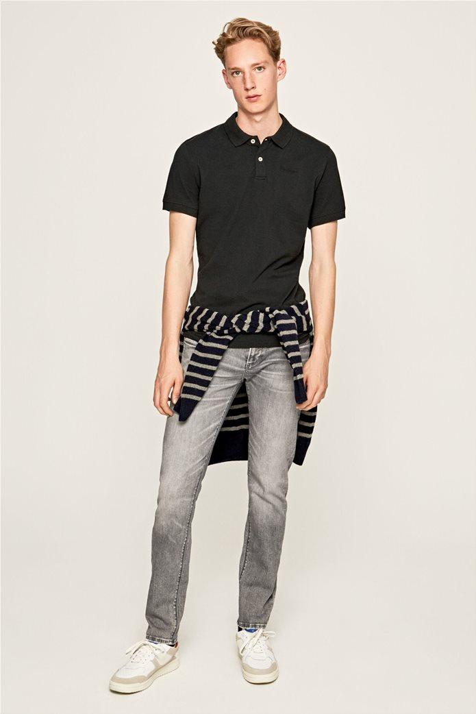Pepe Jeans ανδρικό τζην παντελόνι με ξεβαμμένη όψη Slim Fit Hatch L32 0