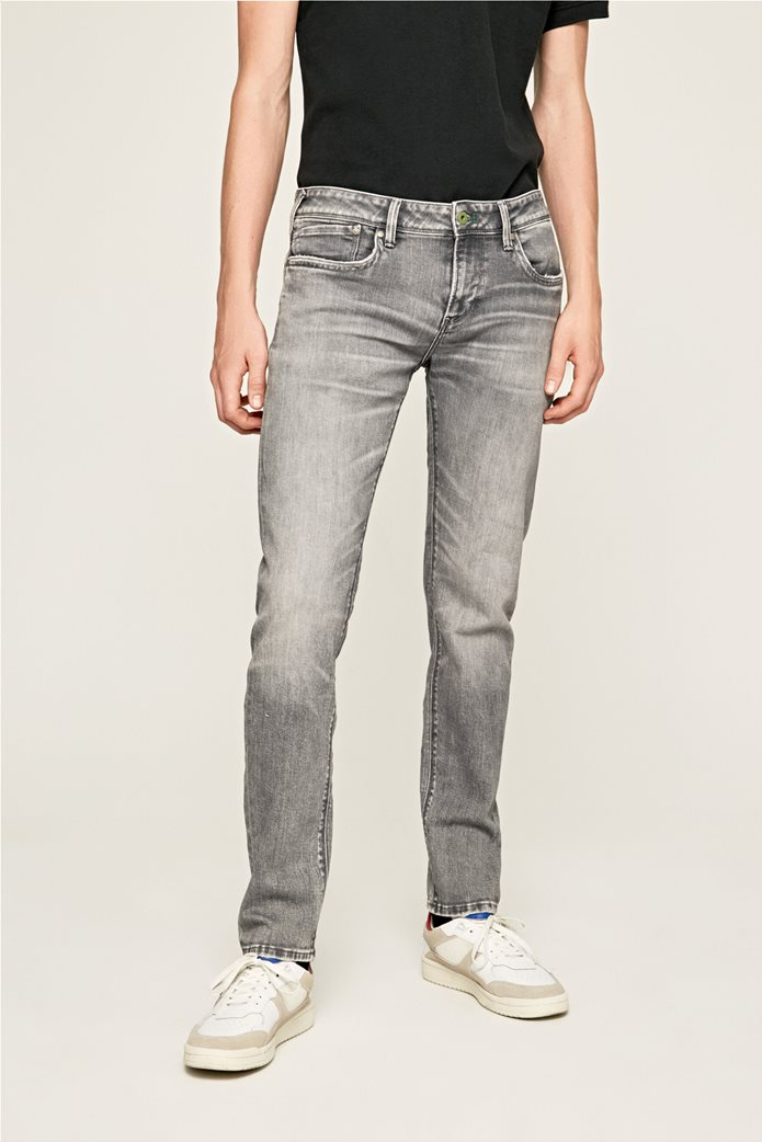Pepe Jeans ανδρικό τζην παντελόνι με ξεβαμμένη όψη Slim Fit Hatch L32 1