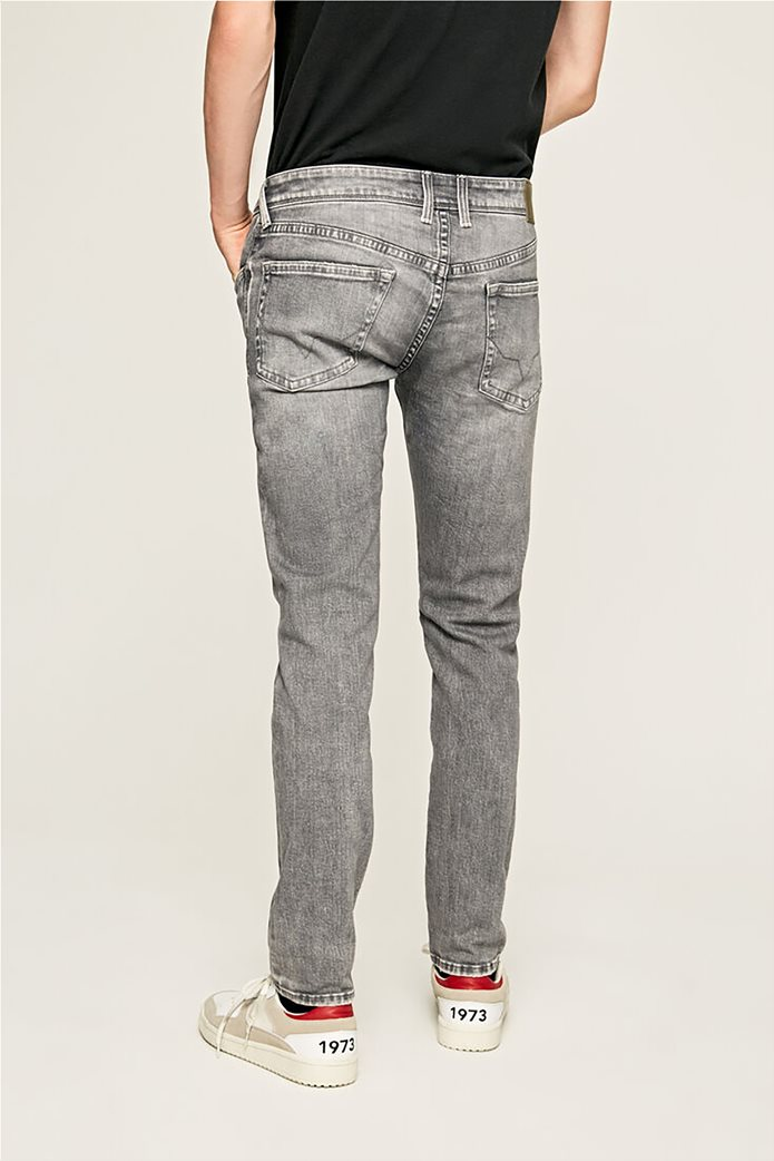 Pepe Jeans ανδρικό τζην παντελόνι με ξεβαμμένη όψη Slim Fit Hatch L32 2