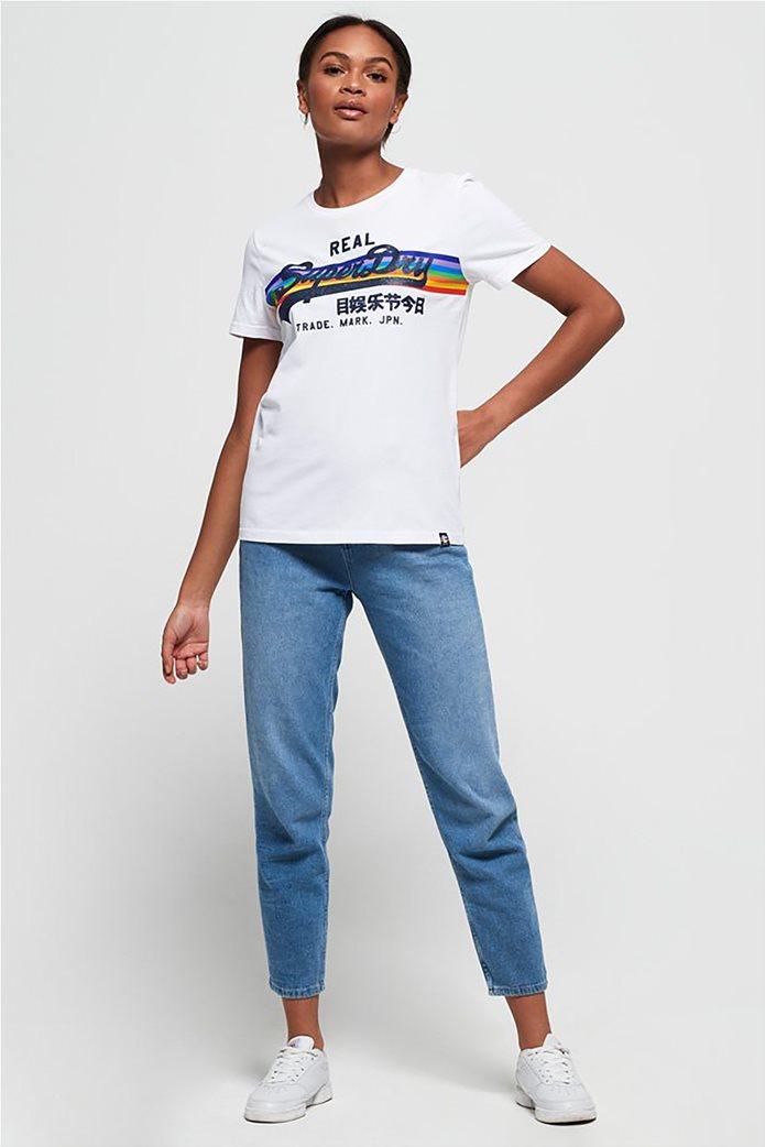 Superdry γυναικείο T-shirt με τύπωμα ουράνιου τόξου 1