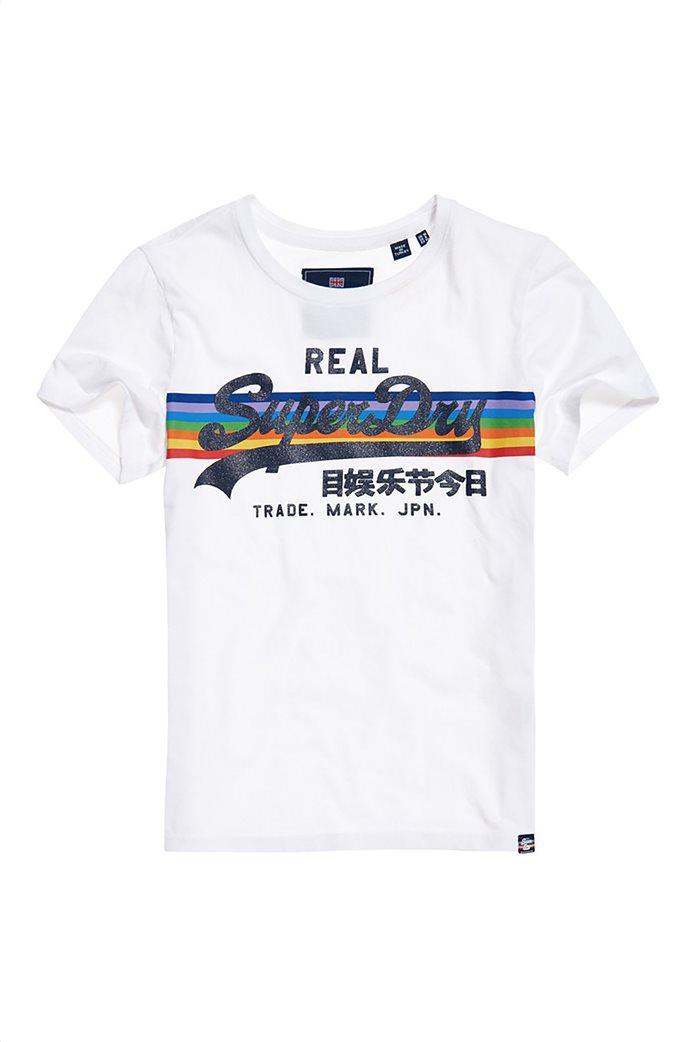 Superdry γυναικείο T-shirt με τύπωμα ουράνιου τόξου 4