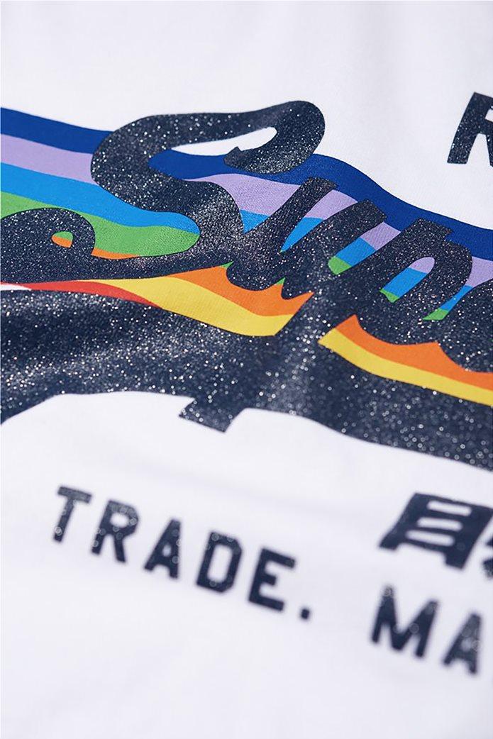 Superdry γυναικείο T-shirt με τύπωμα ουράνιου τόξου 5