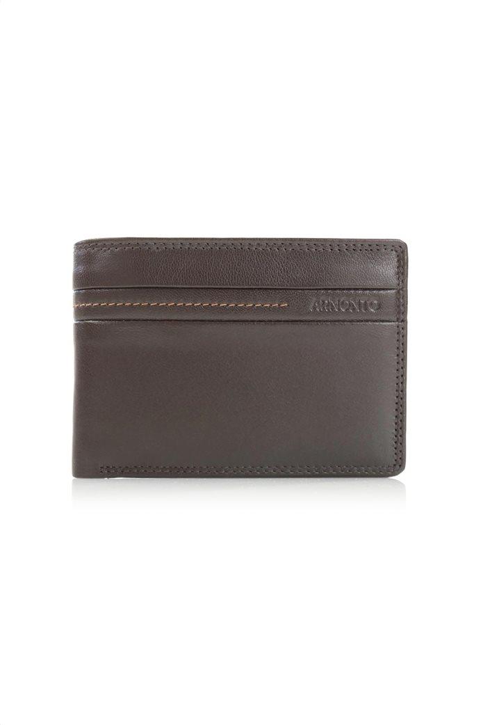 Armonto ανδρικό πορτοφόλι με διακοσμητικές ραφές 0