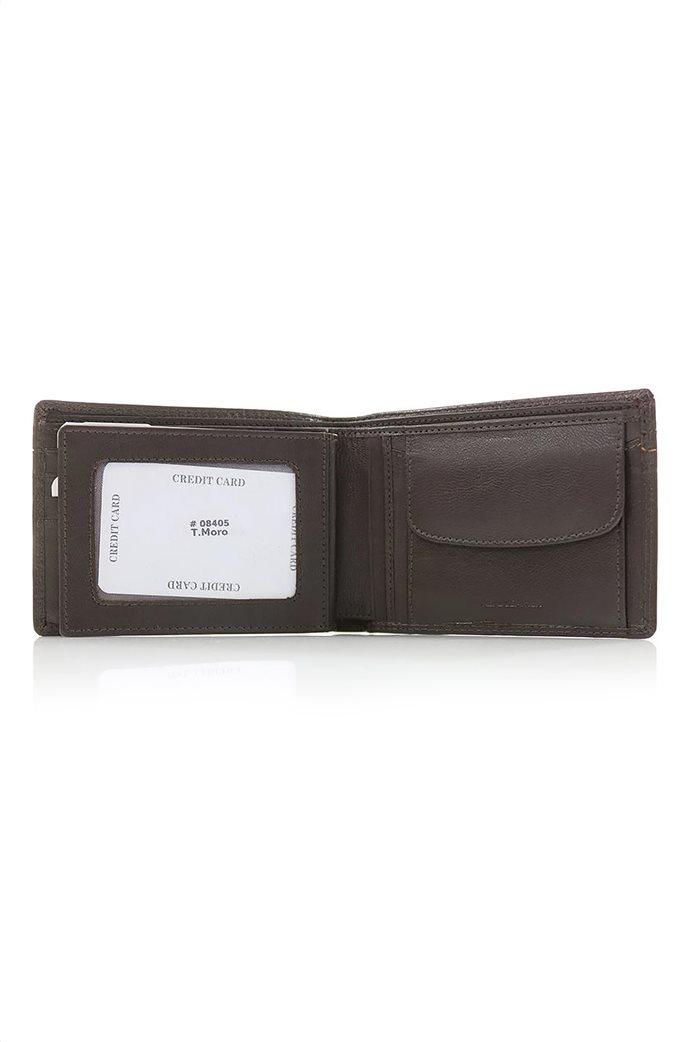 Armonto ανδρικό πορτοφόλι με διακοσμητικές ραφές 1