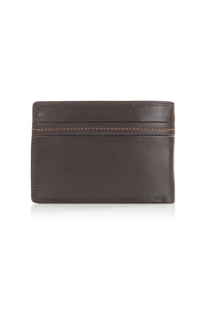 Armonto ανδρικό πορτοφόλι με διακοσμητικές ραφές 2