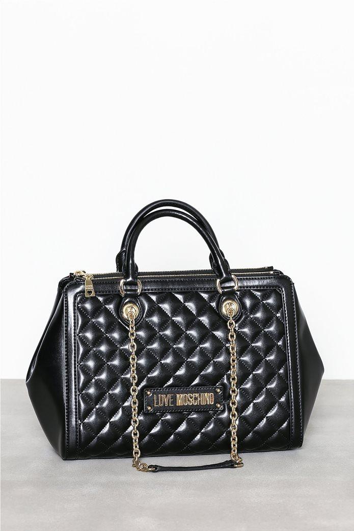 Love Moschino γυναικεία τσάντα χειρός καπιτονέ με αλυσίδα 2 d1861e8e175