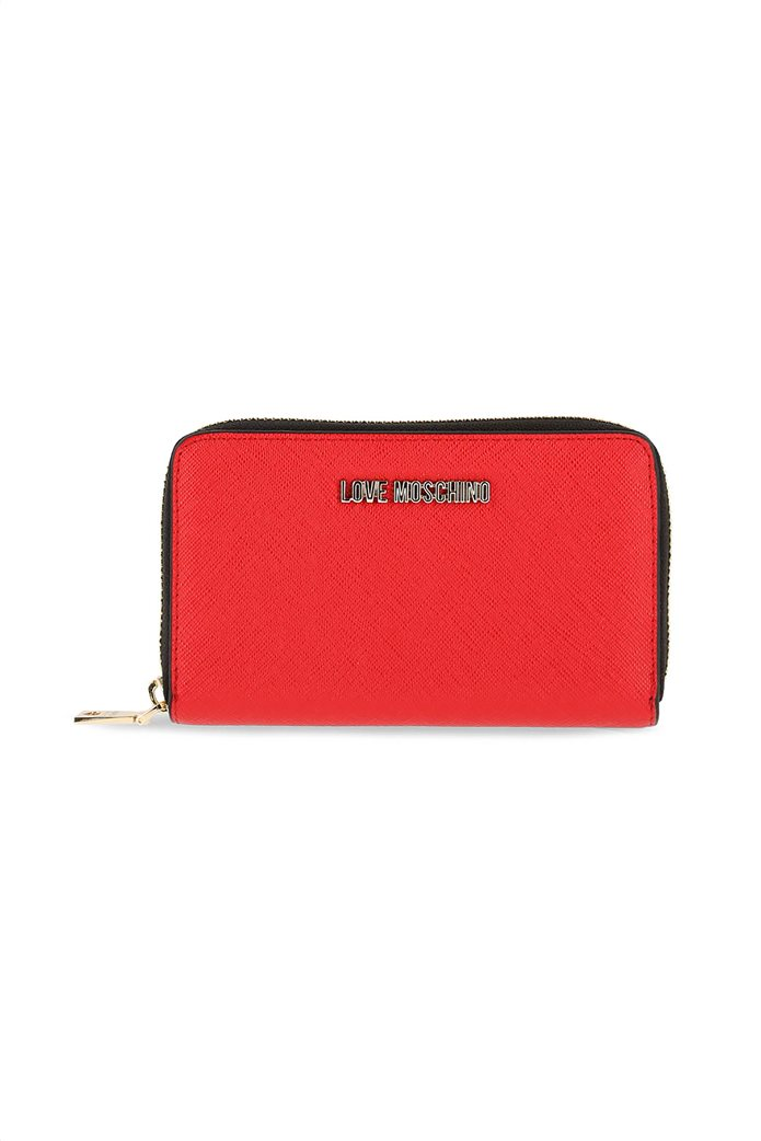 Love Moschino γυναικείo πορτοφόλι με μικρό μεταλλικό logo 0