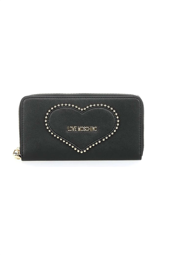 Love Moschino γυναικείo πορτοφόλι με τρουκς και μεταλλικό logo 0