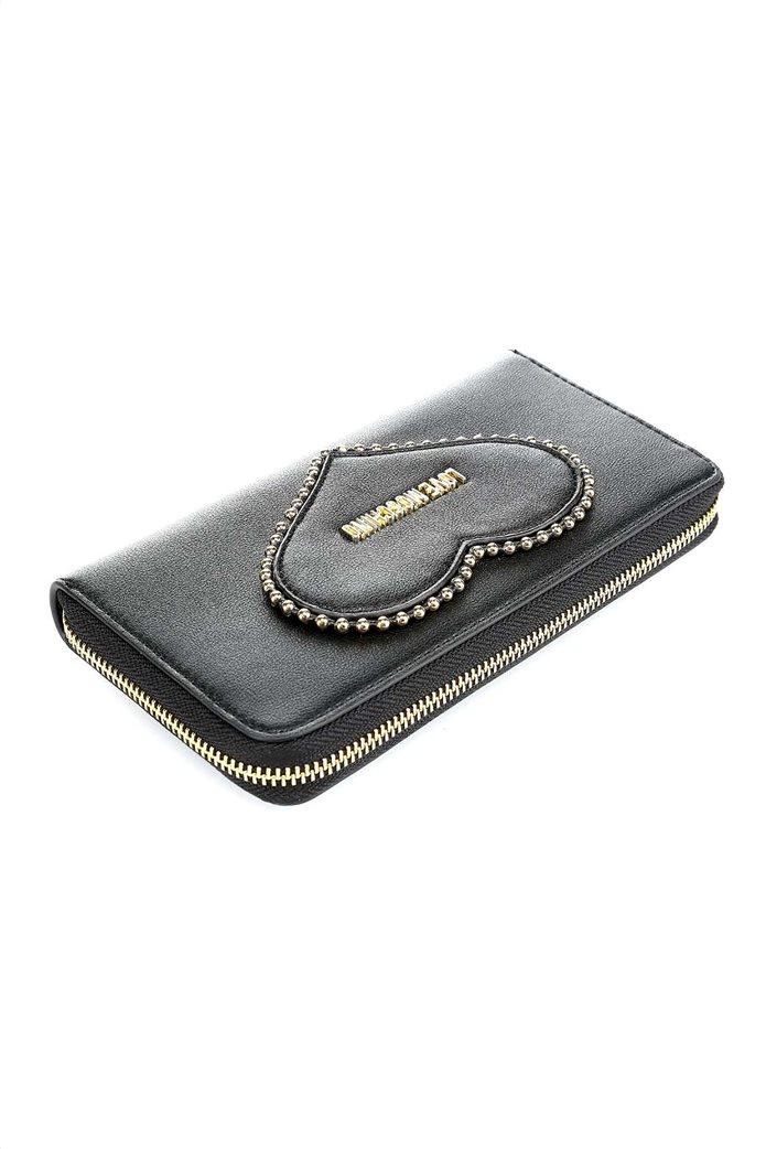 Love Moschino γυναικείo πορτοφόλι με τρουκς και μεταλλικό logo 2