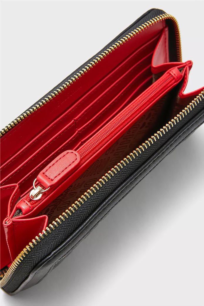 Love Moschino γυναικείo πορτοφόλι καπιτονέ με κεντημένο logo 3