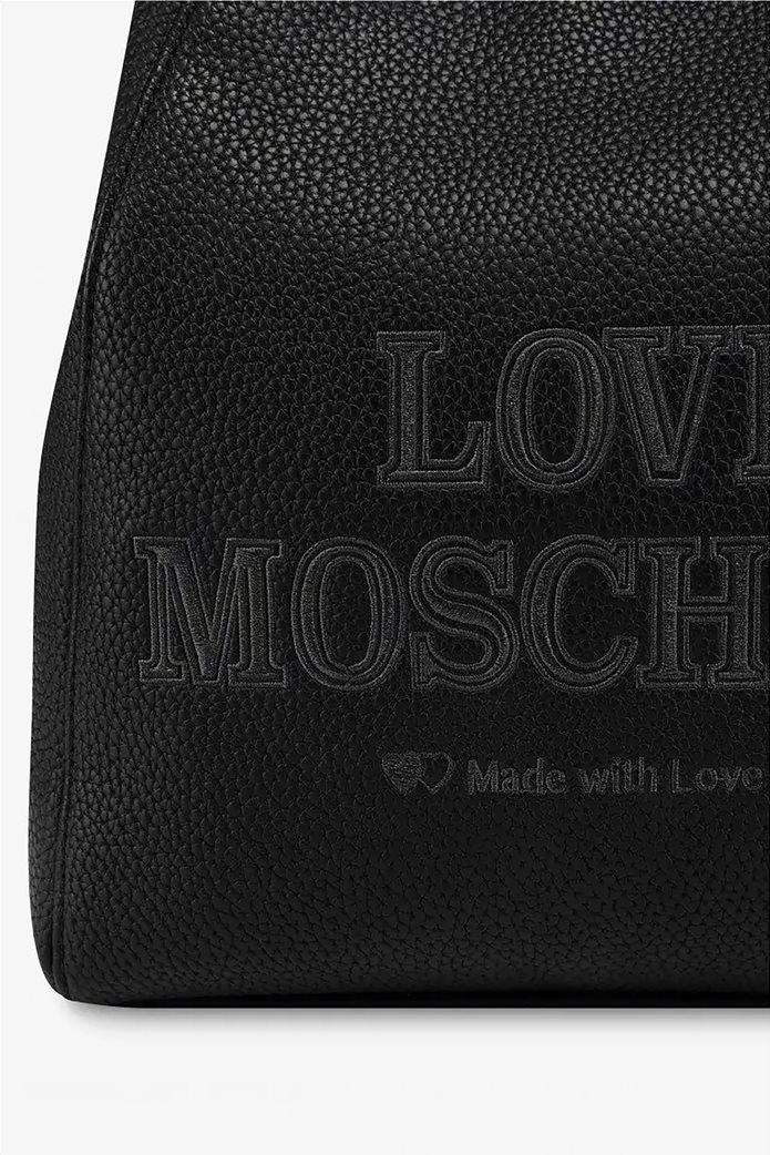 Love Moschino γυναικείο backpack με κεντημένο logo 3