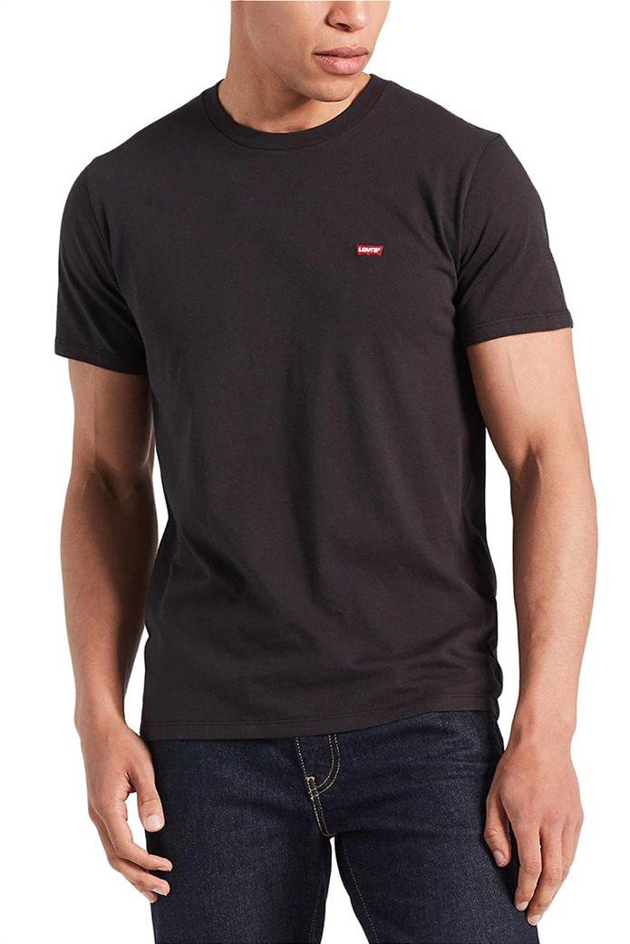 Levi's ανδρικό T-shirt μαύρο Original Hm Μαύρο 0