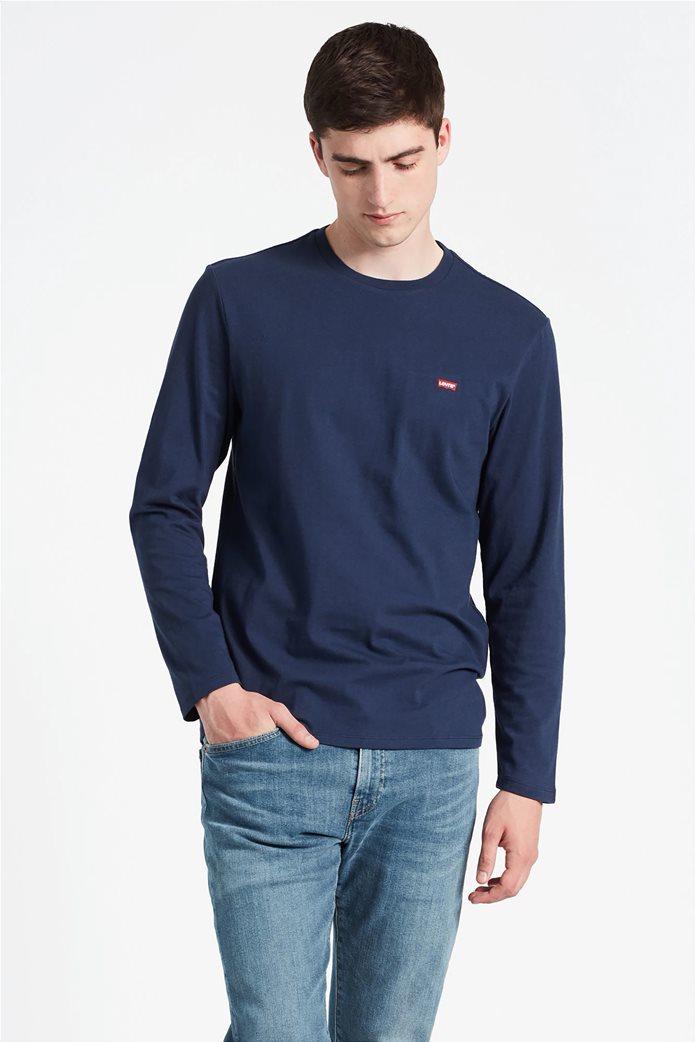 Levi's ανδρικό μπλουζάκι μακρυμάνικο με κεντημένο λογότυπο 0