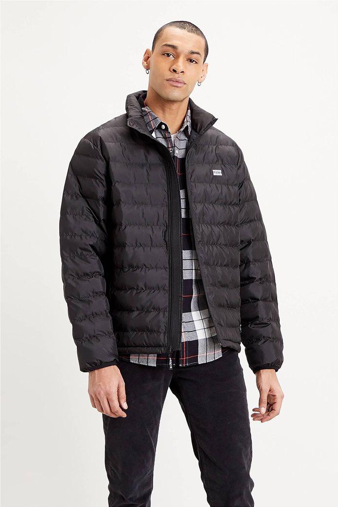 "Levi's® ανδρικό μπουφάν καπιτονέ με logo print ""Presidio Packable"" Μαύρο 0"