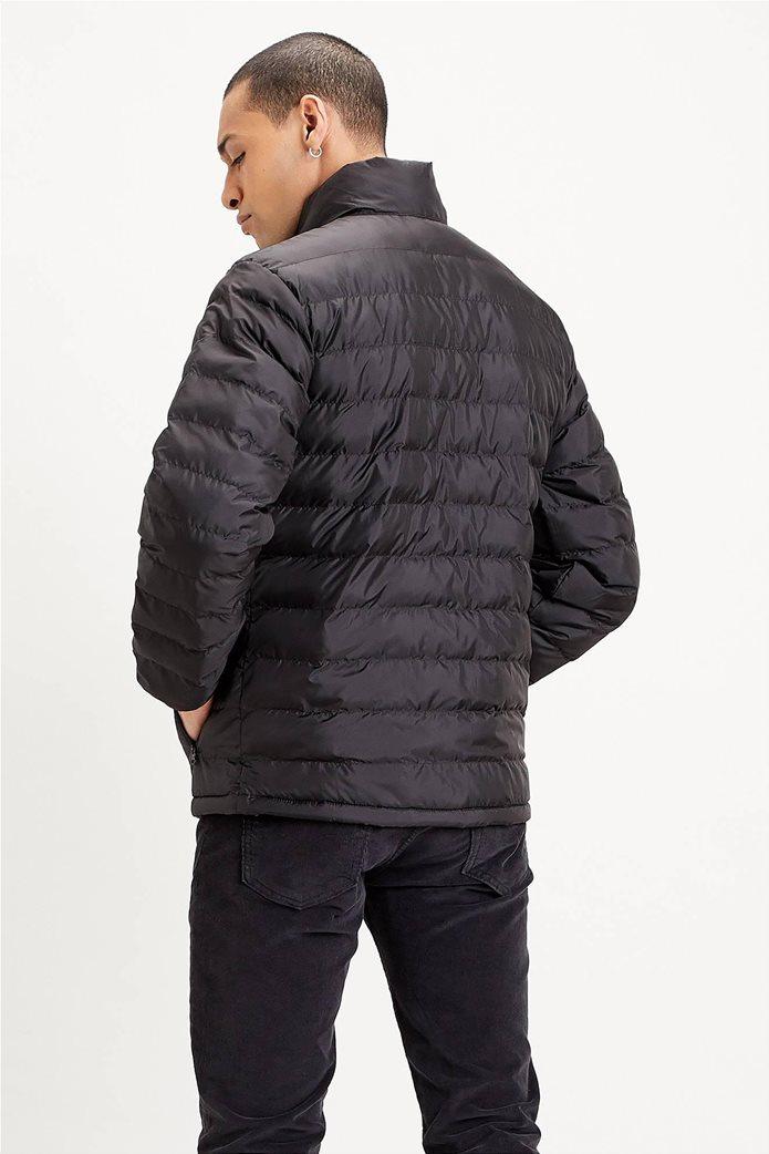 "Levi's® ανδρικό μπουφάν καπιτονέ με logo print ""Presidio Packable"" Μαύρο 1"