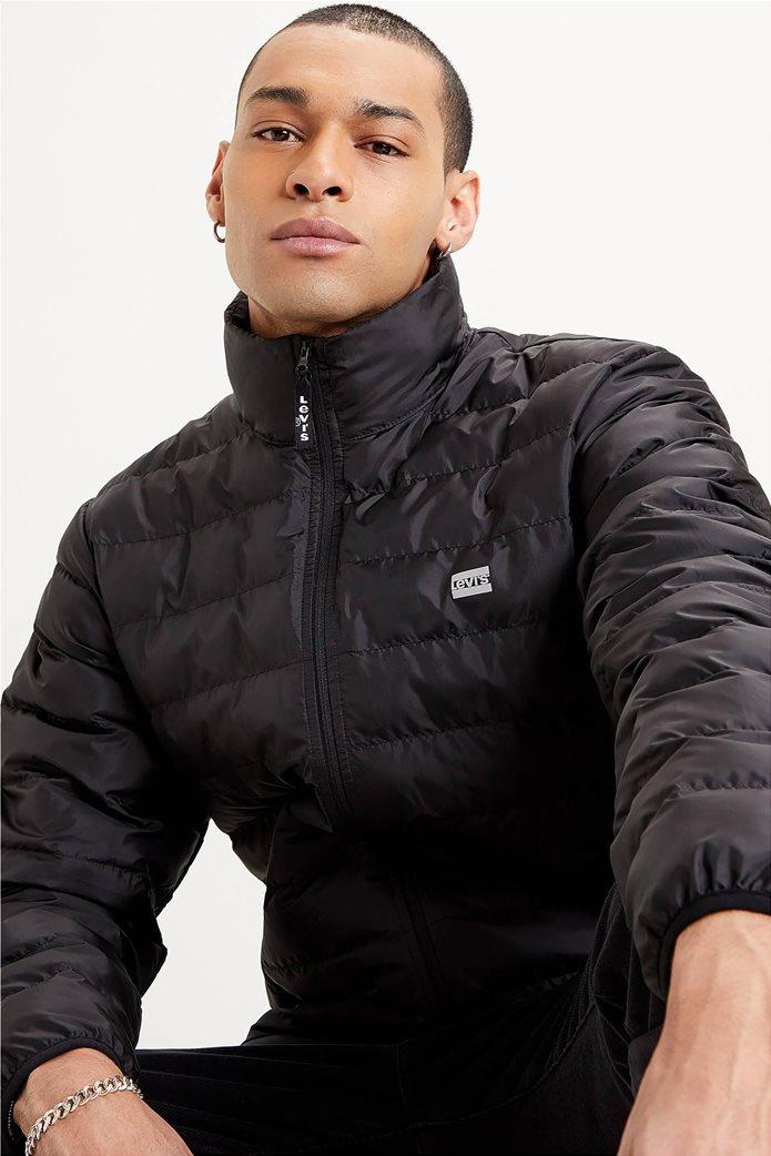"Levi's® ανδρικό μπουφάν καπιτονέ με logo print ""Presidio Packable"" Μαύρο 2"