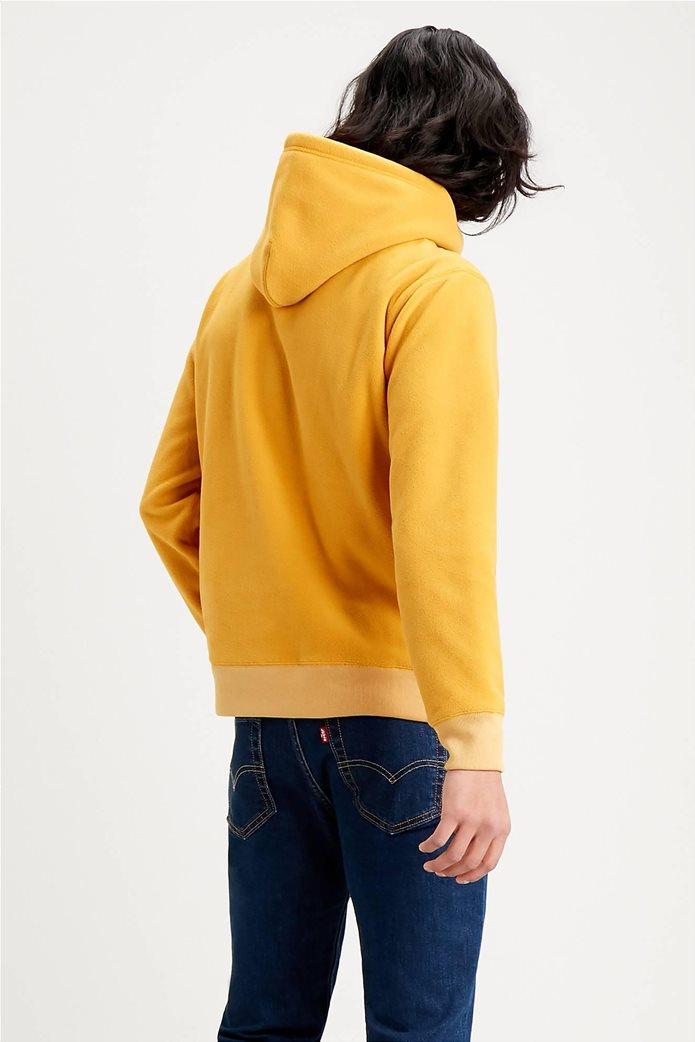 "Levi's® ανδρική μπλούζα fleece με κουκούλα και κεντημένο logo ""Polar Fleece"" Κίτρινο 1"