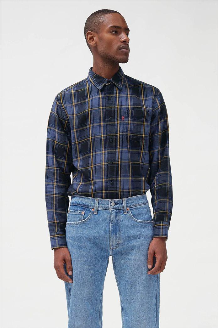 "Levi's® ανδρικό πουκάμισο με καρό σχέδιο και μία τσέπη ""Sunset"" Μπλε Σκούρο 0"