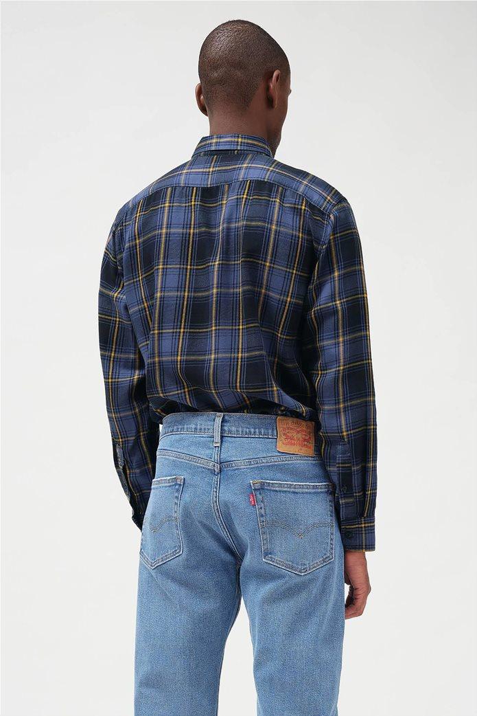 "Levi's® ανδρικό πουκάμισο με καρό σχέδιο και μία τσέπη ""Sunset"" Μπλε Σκούρο 1"