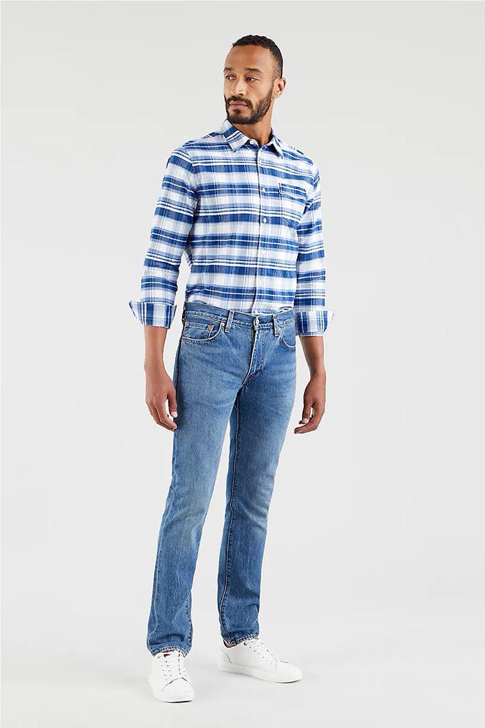 Levi's® ανδρικό τζην παντελόνι 511™ Slim Fit (34L) Μπλε Ανοιχτό 0